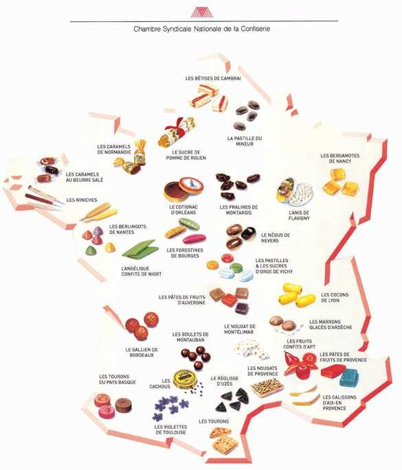 Les bonbons de france french a l a carte usa - Arte la cuisine des terroirs ...