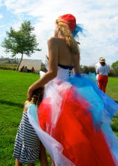 Bastille Day Los Angeles Festival / Titelle Couture Creation / model: Fatma Byb